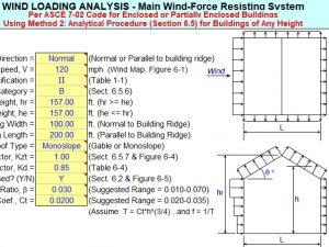 Análisis de carga de viento para estructuras y edificios