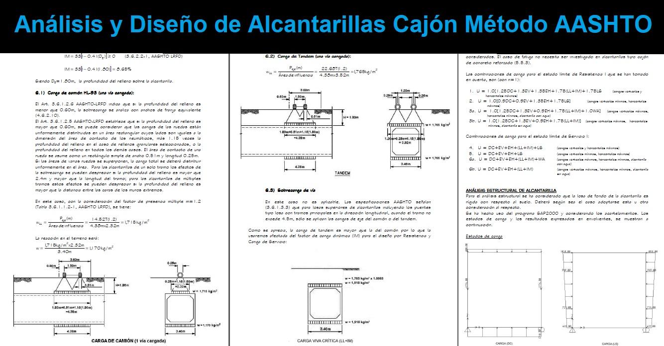 Análisis y Diseño de Alcantarillas Cajón