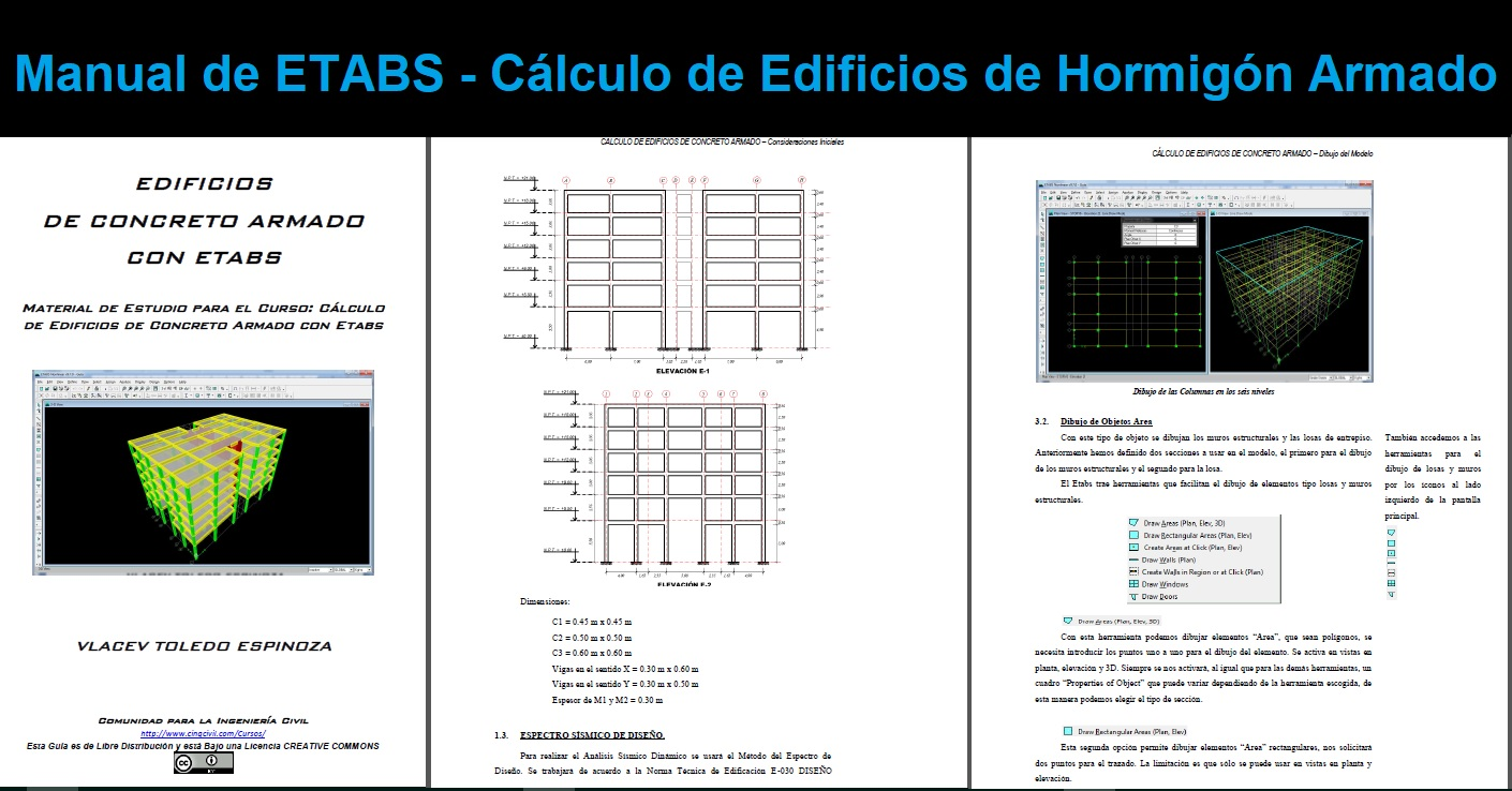 Manual de ETABS Cálculo de Edificios de Hormigón Armado