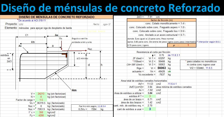 Diseño de ménsulas de concreto reforzado