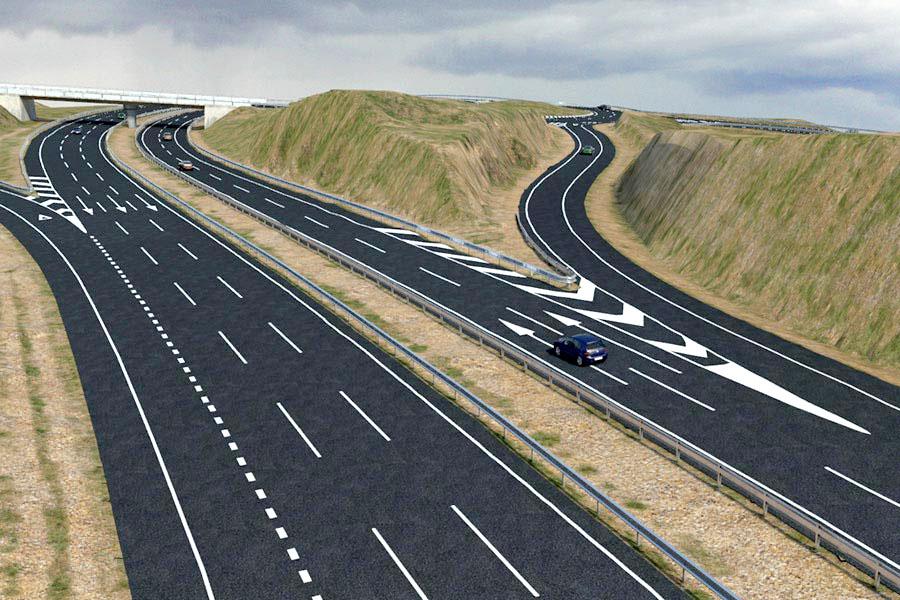 proceso de construcción de carreteras