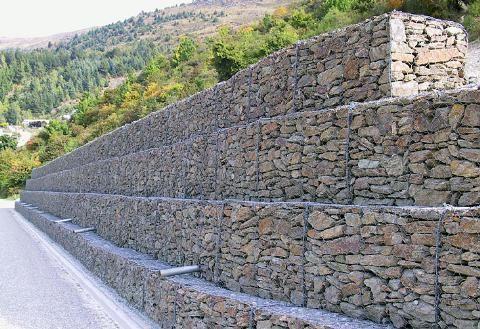Muros de contención de gaviones