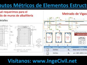 Cómputos Métricos de Elementos Estructurales