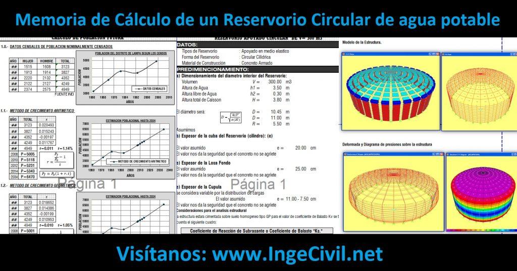 Memoria de Cálculo de un Reservorio Circular de agua potable