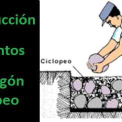 Construcción de Cimientos de Hormigón Ciclópeo