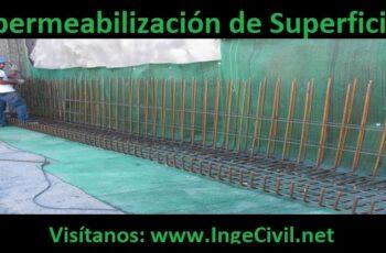Impermeabilización de superficies en muros de sótanos o semisótanos