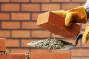 Construcción de muros, tabiques de ladrillo cerámico